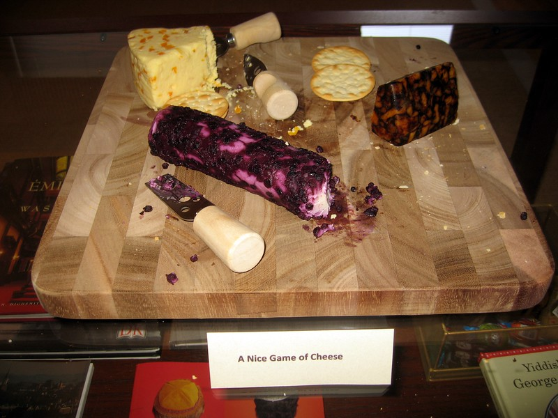 A Nice Game of Cheese (White Stilton with Apricot; Blueberry Goat Cheese; Cheddar with Porter)