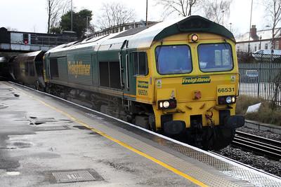 66531 0915-6M66 Immingham-Rugeley, Water Orton. 29/12/11