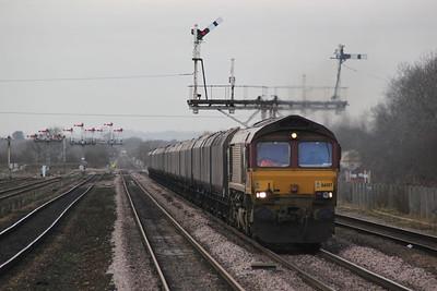 66017 1128 on HTAs to Immingham, Barnetby.