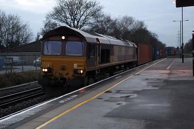 66145 TnT 66043 1549-4z23 Bescot-Southampton Docks, Water Orton.