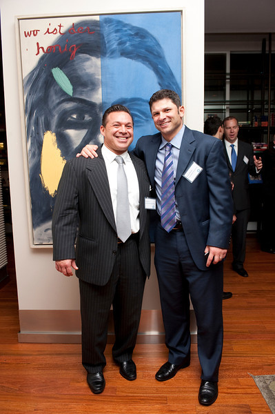 """Ed Moldaver, Wayne Chrebet attend  """"What Works on Wall Street"""" by Jim O'Shaughnessy Book Party Co-hosted by MOLDAVER-CHREBET GROUP on Wednesday, November 9, 2011 at The Core Club, 66 East 55th Street, 4th Floor Library, New York, NY.  PHOTO CREDIT:  ©Manhattan Society.com by Christopher London"""