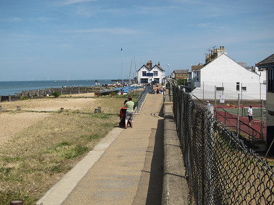 Looking east along the beach