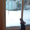 Anna spent a good portion of the day in front of the window wall.  As did we.  Note the SNOW in OCTOBER.