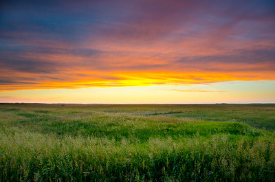 Sunset on the North Dakota prairie.