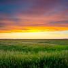 Sunset on the North Dakota prairie.