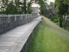 The famous wall that surrounds historic York. Berm was built by the Vikings, Normans built the wall.