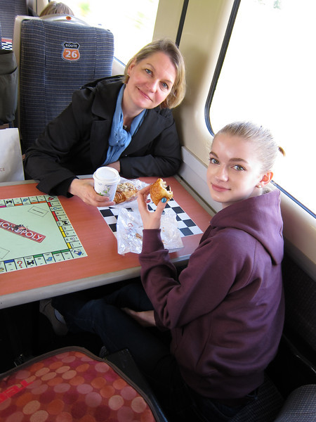 Grace now loves train travel as her mum does!