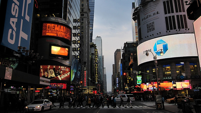 Can't say you have been to NY without taking a walk around Time Square!