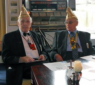 Jo van Son, links en Joop Fackeldey