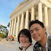 Picture time!  Jefferson Memorial.