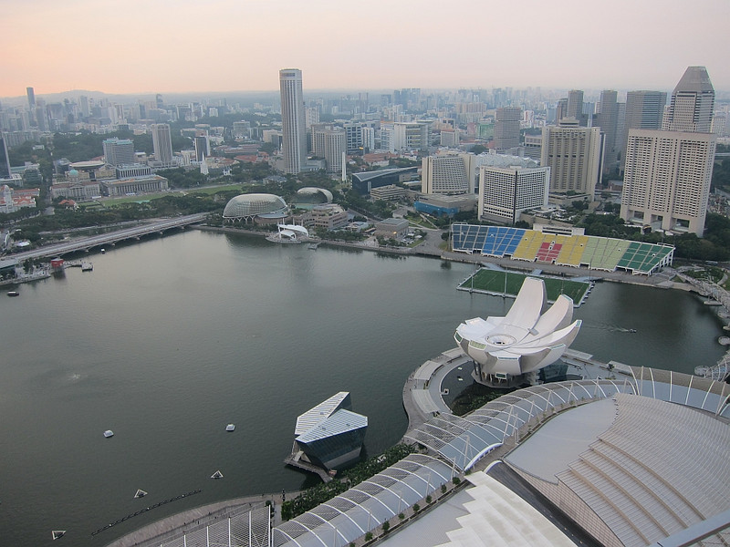 View from Sky on 57, Marina Bay Sands