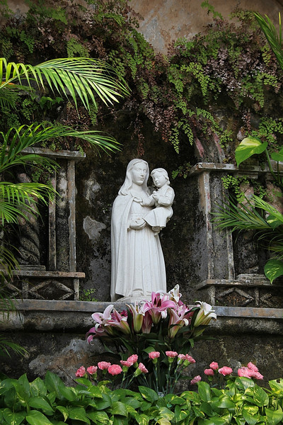 Virgin Mary at Monte Fort.  Right next to the Ruins of St Paul.