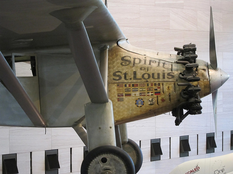 """Spirit of St. Louis, the aircraft that was flown solo by Charles Lindbergh on May 20–21, 1927, on the first non-stop flight from New York to Paris.  National Air and Space Museum. Check out <a href=""""http://en.wikipedia.org/wiki/Spirit_of_St._Louis"""">http://en.wikipedia.org/wiki/Spirit_of_St._Louis</a><br /> <br /> A story that captured my imagination when I was young ;)"""