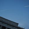 Contrails. Abraham Lincoln Memorial