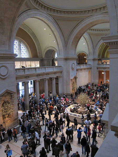 Massive crowds.  The Metropolitan Museum of Art