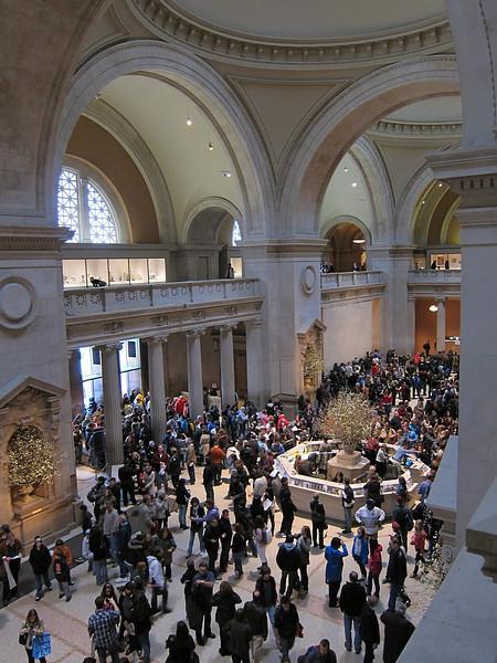 Massive crowds.  The Metropolitan Museum of Art