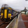 156485 stops at Rannoch working the 10:10 Mallaig - Glasgow Queen St 25/02/11