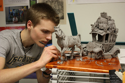 FHS Jack Corpening won Best of Show out of ALL the Houston western sculpture entries.