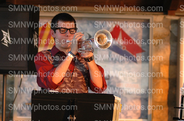 Senior Joey Kendrick plays the trumpet at The Big Event on Sept. 2.