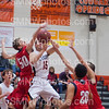 Junior Luke Fields attempts a lay up on Feb. 7 in the SM Northwest gymnasium. They won the game 70-62.