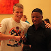 Students meet and greet with Warrick Dunn