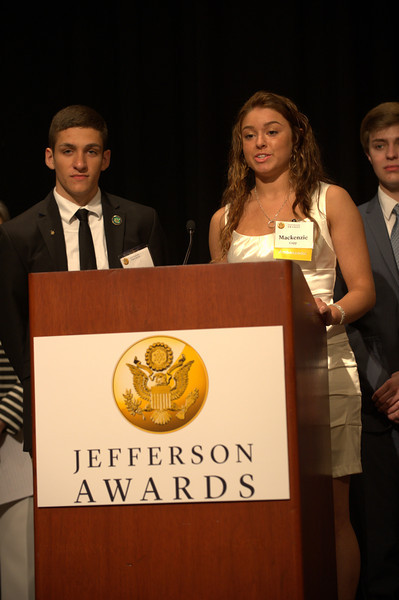 Nate Dusseau and Mackenzie Cupp of Springfield High School, Toledo region, received top Ambassador School honors 2014.