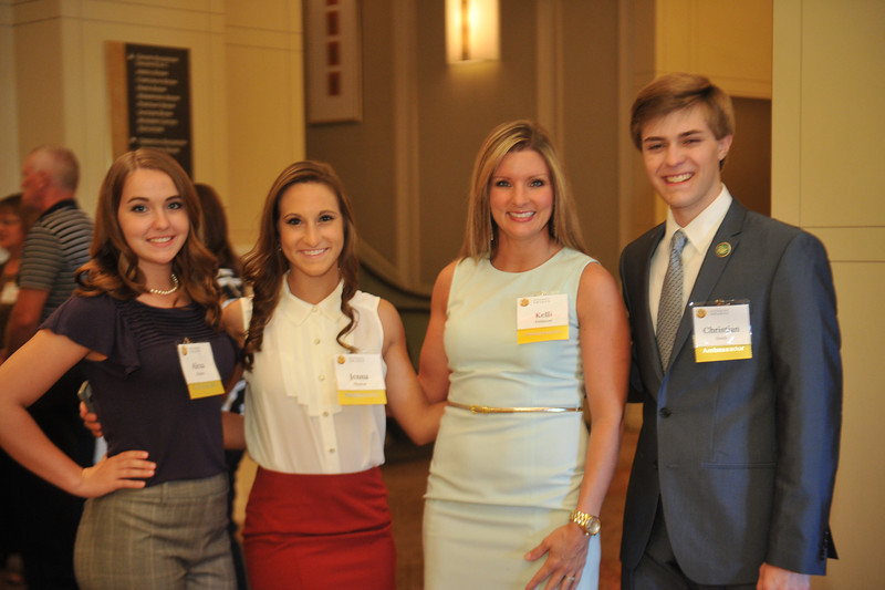 Brownsville Area High School attending National Ceremony for the third year - this time as an Ambassador School. Alexa  Sharpe, Jenna Shumar, Kelli Dellarose, Christian Sesek.