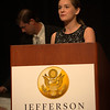 Madeline Seel, Shaler High School, Pittsburgh, PA. On stage at the Jefferson Awards National Ceremonies to promote Students In Action (SIA)