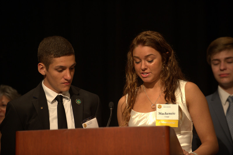 Nate Dusseau and Mackenzie Cupp, representing Ambassador School Springfield High School, Toledo, were elected to speak on behalf of all Ambassador schools this year.