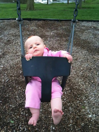 Caitlyn at the park, 8 months