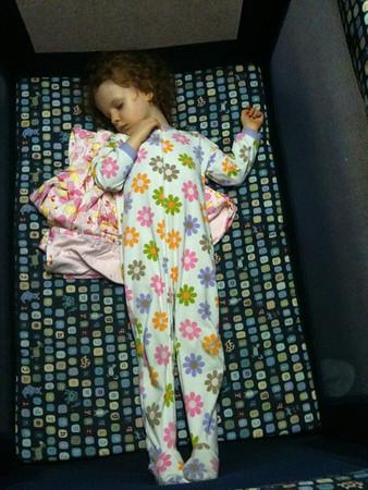Mackenzie Asleep age 3