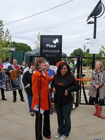 Pine Ave Park Opening, Nov 2011
