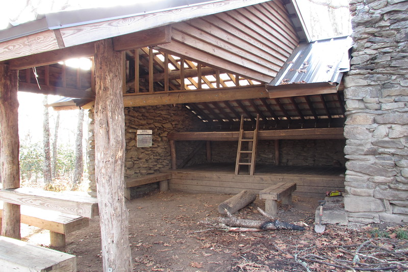 This is the Spence Field Shelter, which is just a couple minutes hike off of the Appalachian Trail.