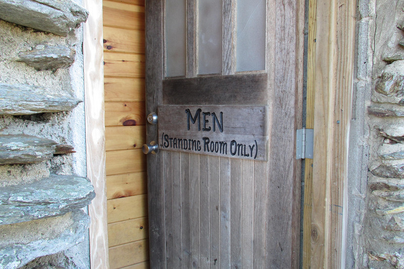 "I discovered that ""Standing Room Only"" meant that it was a room where you can only stand...to do your business.  There are three urinals in there.  The toilets are in another cabin (next photo)."