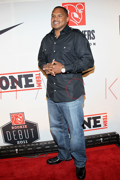 "NEW YORK, NY - APRIL 30:  Chester Pitts attends the 2011 NFLPA Rookie Debut ""One Team"" Celebration at Cipriani Wall Street on April 30, 2011 in New York City.  (Photo by Steve Mack/S.D. Mack Pictures) *** Local Caption *** Chester Pitts"