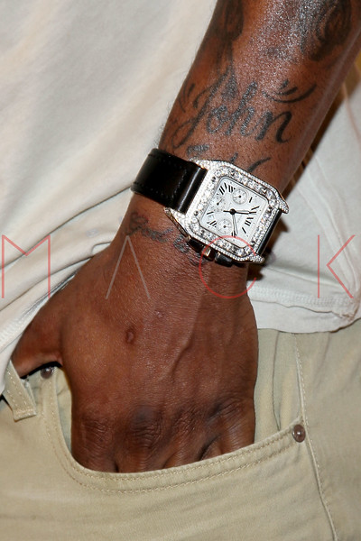"NEW YORK, NY - APRIL 30:  Dwayne Bowe (Wristwatch Detail) attends the 2011 NFLPA Rookie Debut ""One Team"" Celebration at Cipriani Wall Street on April 30, 2011 in New York City.  (Photo by Steve Mack/S.D. Mack Pictures) *** Local Caption *** Dwayne Bowe"