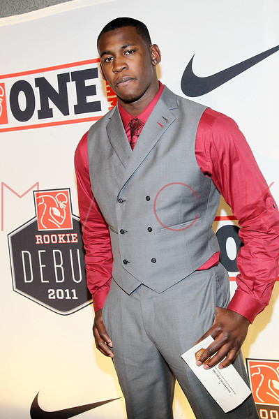 "NEW YORK, NY - APRIL 30:  Aldon Smith attends the 2011 NFLPA Rookie Debut ""One Team"" Celebration at Cipriani Wall Street on April 30, 2011 in New York City.  (Photo by Steve Mack/S.D. Mack Pictures) *** Local Caption *** Aldon Smith"