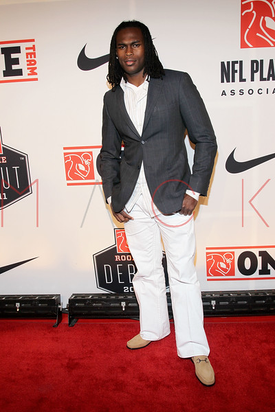 "NEW YORK, NY - APRIL 30:  Julio Jones attends the 2011 NFLPA Rookie Debut ""One Team"" Celebration at Cipriani Wall Street on April 30, 2011 in New York City.  (Photo by Steve Mack/S.D. Mack Pictures) *** Local Caption *** Julio Jones"