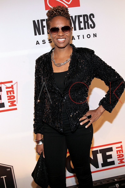 """NEW YORK, NY - APRIL 30:  MC Lyte attends the 2011 NFLPA Rookie Debut """"One Team"""" Celebration at Cipriani Wall Street on April 30, 2011 in New York City.  (Photo by Steve Mack/S.D. Mack Pictures) *** Local Caption *** MC Lyte"""