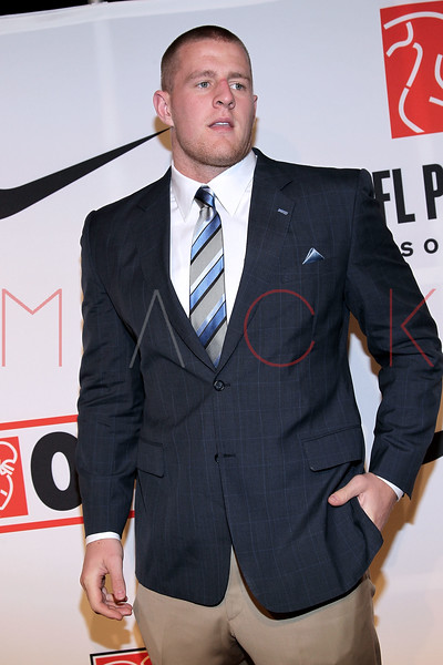 """NEW YORK, NY - APRIL 30:  J.J. Watt attends the 2011 NFLPA Rookie Debut """"One Team"""" Celebration at Cipriani Wall Street on April 30, 2011 in New York City.  (Photo by Steve Mack/S.D. Mack Pictures) *** Local Caption *** J.J. Watt"""