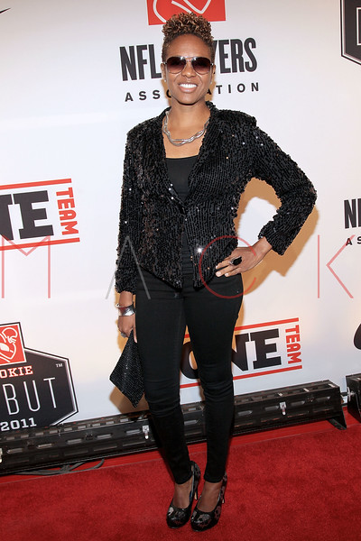 "NEW YORK, NY - APRIL 30:  MC Lyte attends the 2011 NFLPA Rookie Debut ""One Team"" Celebration at Cipriani Wall Street on April 30, 2011 in New York City.  (Photo by Steve Mack/S.D. Mack Pictures) *** Local Caption *** MC Lyte"