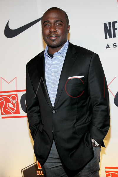 """NEW YORK, NY - APRIL 30:  Marshall Faulk attends the 2011 NFLPA Rookie Debut """"One Team"""" Celebration at Cipriani Wall Street on April 30, 2011 in New York City.  (Photo by Steve Mack/S.D. Mack Pictures) *** Local Caption *** Marshall Faulk"""