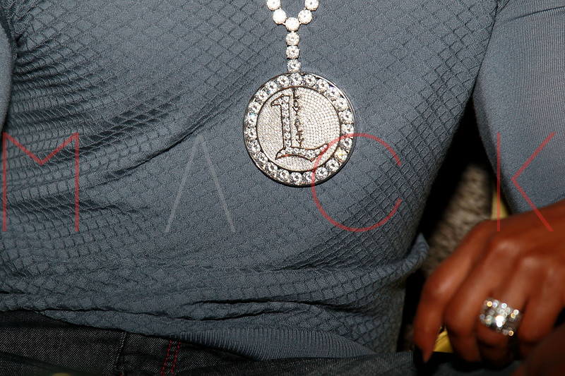 NEW YORK, NY - AUGUST 25:  Omar 'Slim' White and Vivica A. Fox (jewelry detail) attends BJ Coleman's 31st birthday party at The Polar Lounge on August 25, 2011 in New York City.  (Photo by Steve Mack/S.D. Mack Pictures) *** Local Caption *** Omar 'Slim' White; Vivica A. Fox
