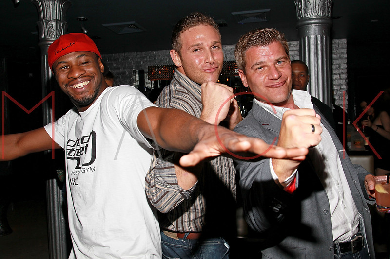 NEW YORK, NY - AUGUST 25:  Eric Kelly, Christopher Nirschel and Tom Murro attend BJ Coleman's 31st birthday party at The Polar Lounge on August 25, 2011 in New York City.  (Photo by Steve Mack/S.D. Mack Pictures) *** Local Caption *** Eric Kelly; Christopher Nirschel; Tom Murro