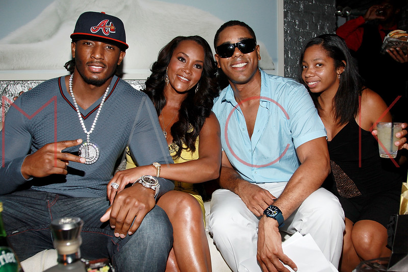 NEW YORK, NY - AUGUST 25:  Omar 'Slim' White, Vivica A. Fox and BJ Coleman attend BJ Coleman's 31st birthday party at The Polar Lounge on August 25, 2011 in New York City.  (Photo by Steve Mack/S.D. Mack Pictures) *** Local Caption *** Omar 'Slim' White; Vivica A. Fox; BJ Coleman