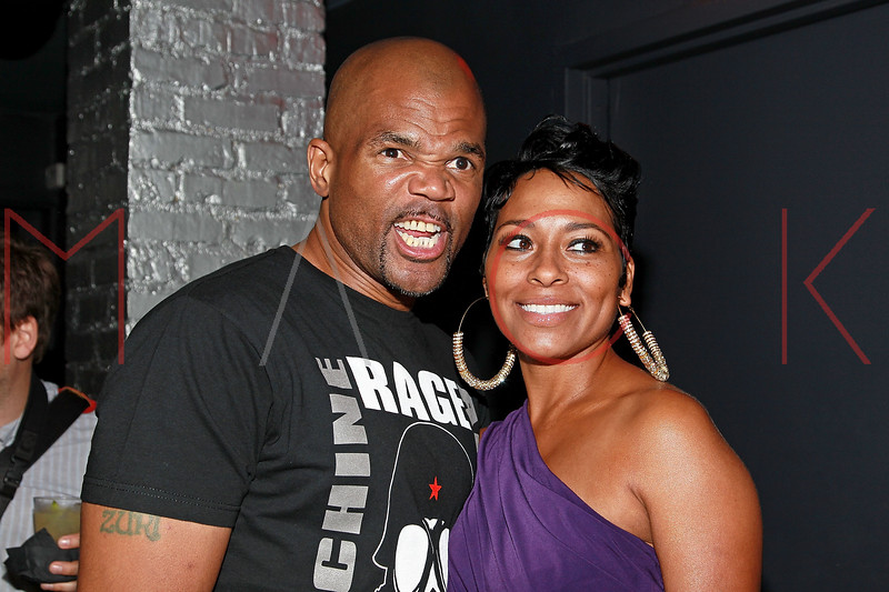 "NEW YORK, NY - AUGUST 25:  Darryl ""DMC"" McDaniels (L) attends BJ Coleman's 31st birthday party at The Polar Lounge on August 25, 2011 in New York City.  (Photo by Steve Mack/S.D. Mack Pictures) *** Local Caption *** Darryl ""DMC"" McDaniels"