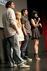 "NEW YORK, NY - AUGUST 15:  Aaron Levine, Fallon Goodson, Rhys Coiro and Krysten Ritter attend the Q&A of the special screening of ""Life Happens"" at the Visual Arts Theater on August 15, 2011 in New York City.  (Photo by Steve Mack/S.D. Mack Pictures) *** Local Caption *** Aaron Levine; Fallon Goodson; Rhys Coiro; Krysten Ritter"