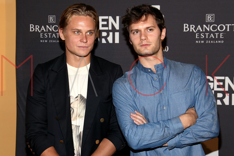 "NEW YORK, NY - AUGUST 15:  Billy Magnussen and Hugo Becker attend the special screening of ""Life Happens"" at the Visual Arts Theater on August 15, 2011 in New York City.  (Photo by Steve Mack/S.D. Mack Pictures) *** Local Caption *** Billy Magnussen; Hugo Becker"