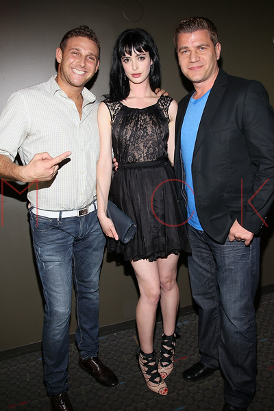 "NEW YORK, NY - AUGUST 15:  Chris Nirschel, Krysten Ritter and Tom Murro attend the special screening of ""Life Happens"" at the Visual Arts Theater on August 15, 2011 in New York City.  (Photo by Steve Mack/S.D. Mack Pictures) *** Local Caption *** Chris Nirschel; Krysten Ritter; Tom Murro"