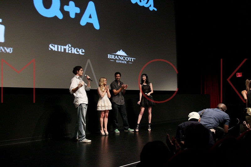 """NEW YORK, NY - AUGUST 15:  Aaron Levine, Fallon Goodson, Rhys Coiro and Krysten Ritter attend the Q&A of the special screening of """"Life Happens"""" at the Visual Arts Theater on August 15, 2011 in New York City.  (Photo by Steve Mack/S.D. Mack Pictures) *** Local Caption *** Aaron Levine; Fallon Goodson; Rhys Coiro; Krysten Ritter"""